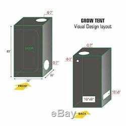 TopoLite Grow Tent Room Complete Kit Hydroponic Growing System LED 600W Grow