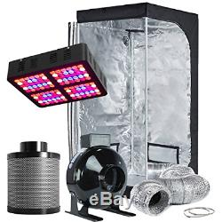 TopoLite Grow Tent Room Complete Kit Hydroponic Growing System LED 600W Grow + +
