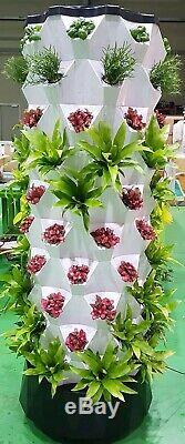 VERTICAL AEROPONICS / HYDROPONICS TOWER GARDEN SYSTEM With GROWING 6 LED LIGHT