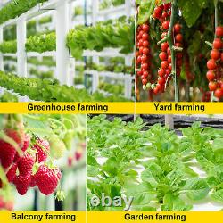 VEVOR Hydroponic Grow Kit 54 Plant Sites 6 Pipes 1 Layer Plants Growing System